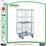Plastikeinkaufen-Wäscherei-Karren-Organisator mit Rädern