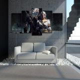 HD drukte Het Schilderen Witcher Geralt en Ciri op het Canvas van het Beeld van de Affiche van het Af:drukken van de Decoratie van de Zaal van het Canvas af