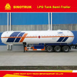 50cbm Sinotruk HOWO Semi-Trailer do depósito de GPL
