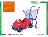 Chariot en plastique à achats de supermarché de gosses d'enfants (HBE-K-5)