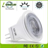MR11 de alta potencia de 2W GU10 12V LED Spotlight Lámpara china