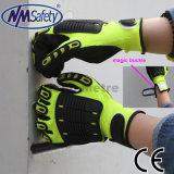 Нитриловые Nmsafety высокую отдачу с покрытием TPR для защиты рук перчатки