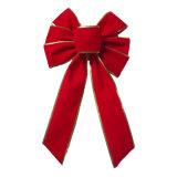 Arco rosso del nastro del velluto per la decorazione di festa