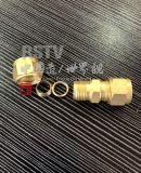真鍮のフェルールの管継手単一の男性連合コネクター