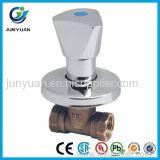 Válvula de parada de cobre amarillo de Pex-REINO UNIDO Copression con la válvula de control de ISO/Brass