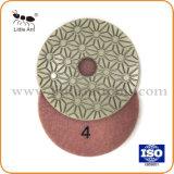 3 Passos seco Almofada de polir flexível de Pedra Natural