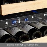 110bottles aufgebaut Edelstahl Fahrwerk-Kompressor-in der Doppelzonen-Feuchtigkeits-Steuerwein-Kühlvorrichtung