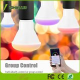 Bulbo controlado equivalente colorido claro do diodo emissor de luz do diodo emissor de luz Dimmable 50W (8W) Smartphone do Wi-Fi Br20 E26 do bulbo esperto do diodo emissor de luz
