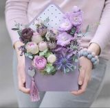 Flor de papel plegado/caja de cartón caja de chocolates personalizados
