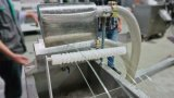 Пластиковые двойной экструдер ПЕРЕРАБОТКА ОТХОДОВ ПЭТ машины хлопья гранулятор машин