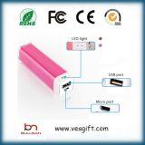 carregador portátil do USB da bateria do telefone do banco da potência da promoção do ABS 2200mA
