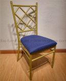 結婚式の固定シート・クッションおよび十字の背部が付いているアルミニウムChiavari Tiffanyの椅子