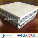 Panneau en aluminium de nid d'abeilles de beau de modèle marbre de pierre pour la table ronde de cuisine