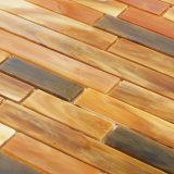 Mosaico respetuoso del medio ambiente del vidrio manchado de Brown de los materiales de construcción