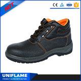 Zapatos de seguridad de acero del cuero de la punta para los hombres Ufa007