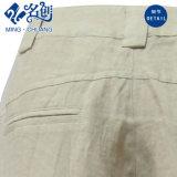 Bouton de la ramie gris lâche Pantalon poches à glissière Closed-Bottom quotidien