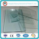 3-19mm de espesor claro de vidrio flotante para la pared de vidrio de construcción