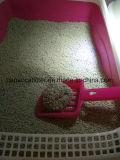 Bille groupant la litière du chat en masse compacte avec l'épuisette facile