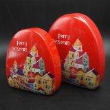 Caixa do estanho do Natal do OEM para a embalagem (T003-V6)