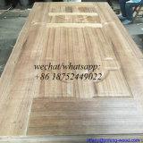 Chapa de la naturaleza de la puerta de la piel de madera de teca