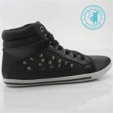 Обувь ботинок холстины лодыжки заклепки PU ботинок людей (SNC-011318)
