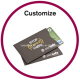Fundas de la tarjeta de crédito plásticas de encargo