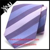 Seta della cravatta tessuta jacquard a strisce di Fashio dell'uomo
