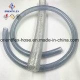 Température élevée en PVC flexible en plastique de fil en acier renforcé