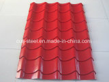 El color cubierto galvanizó la placa de acero/la placa de azotea prepintada del hierro acanalado