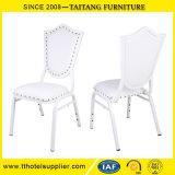 Chaise de salle à manger de métal blanc Commerce de gros