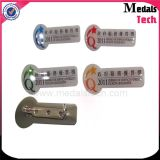 安全ピンが付いている高品質亜鉛合金の金属のバッジそして名札