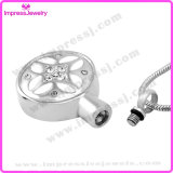 Collane dell'urna per il pendente rotondo delle ceneri con il reticolo ed i cristalli Ijd9658