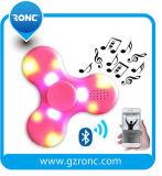 Großhandelsunruhe-Spinner-Spielzeug mit Licht des Bluetooth Lautsprecher-LED