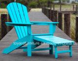 最もよい品質の屋外の庭の家具のHidewayのオットマンが付いている紫外線保護されたPolywood Adirondackの椅子