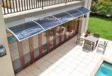 Láminas de policarbonato toldos Toldos de aluminio para la venta de componentes de la lluvia sombras Canopy