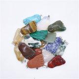 Pendenti naturali Assorted della sospensione delle collane di fascini dei piedi della pietra preziosa di colore di Mied