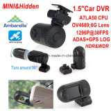 "1.5 ""Mini A7la50 1296p Car DVR Ambarella com 5.0mega Car Camera, WDR, Hdr, G-Sensor, GPS Tracking Function"