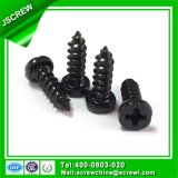 Cabeça de cor preta 4mm Parafuso Autoatarraxante para vidro