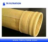 Fieltro con aguja Nonwoven Bolsas de filtro de polvo de P84