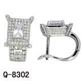 2017의 새로운 작풍 925 은 CZ 귀걸이 다이아몬드 보석