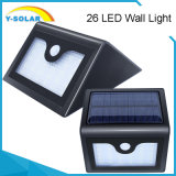 Luz solar solar SL1-38-26 del sensor de movimiento de la lámpara de pared de IP65 1.5W-26LED