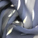 熱い方法女性の衣服のための100%年のポリエステル銀製の押されたしわファブリック