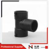 Té Fait sur Commande D'égale de Fusion de Bout de Pipe de Tube de Pipe de HDPE Commun de Garnitures