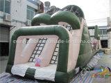 Duradero gigante de la carrera de obstáculos inflables para adultos