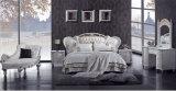 Base italiana del cuoio genuino della mobilia della camera da letto di legno solido di stile