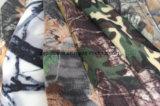 Tessuto polare del panno morbido della foresta del camuffamento con il taglio