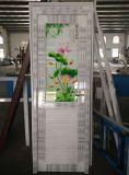 Conch Color PVC / UPVC Porte de salle de bain avec verre artisanal de grenouille