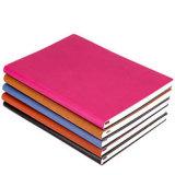 糸かがりPUの革カスタムノートの印刷のハードカバーのメモ帳