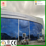 Costruzione prefabbricata della struttura d'acciaio del fornitore della fabbrica con la parete divisoria di vetro