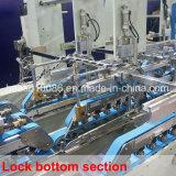 機械(SCM-1800PC C4)を折り、つける4つのコーナーの波形ボックス